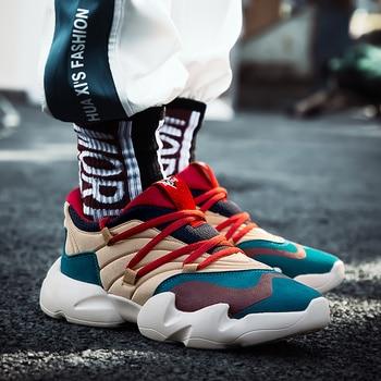 Vintage Dad Men Sneakers 2018 New Kanye West Hip Hop Dancing Light Breathable Men Casual Shoes Men Sneakers Zapatos Hombre