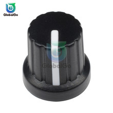10pcs/Lot WH148 Potentiometer Knob Cap 15X16mm 6mm Shaft Hole Potentiometer Rotating Cap Black цены