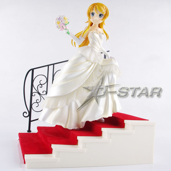 EMS Shipping 8 Ore No Imouto My Little Sister Can't Be This Cute Kousaka Kirino Wedding Ver. Boxed PVC Action Figure Toy Gift 20cm ore no imouto my little sister can t be this cute sexy mask collectible action figure pvc toys for christmas gift