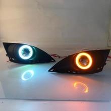 RQXR lampada della nebbia di guida di montaggio della luce per Mazda 6 Atenza 2010-2013 (GH) 2 cob angelo occhio led daytime running luci indicatori di direzione