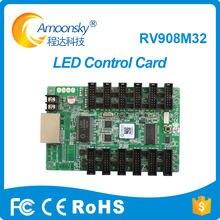 Linsn rv908 linsn receptor de cartão de controle led receber cartão rv908m32 trabalho com 1/32 varredura display led cartão de recepção