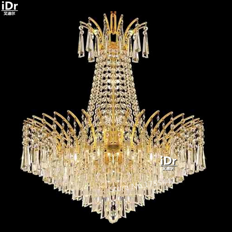 gold Chandeliers Continental minimalist upscale hotel lobby - Indoor Lighting - Photo 1
