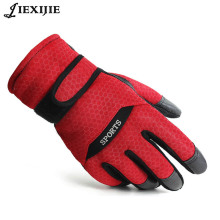 winter professional ski gloves girls boys waterproof warm Leather pig skin thickening and velvet