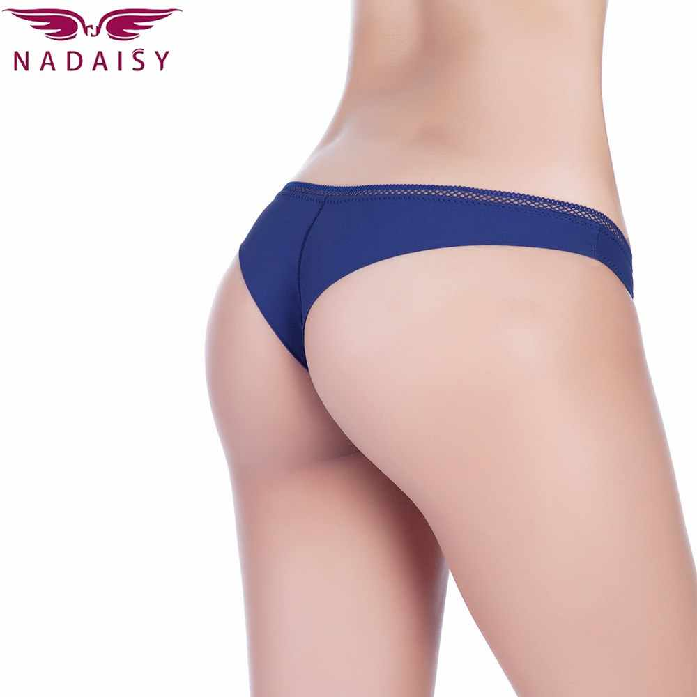 1de79d8e3 Nadaisy Sexy Panties Women Underwear Solid Low Rise Hipster Lingerie High  Elastic Thong G String Ladies