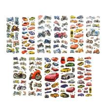 10 Pçs/lote Bolha Adesivos 3D Motocicleta Carro Dos Desenhos Animados adesivos laptop adesivo Recados adesivos de telefonia móvel para as crianças