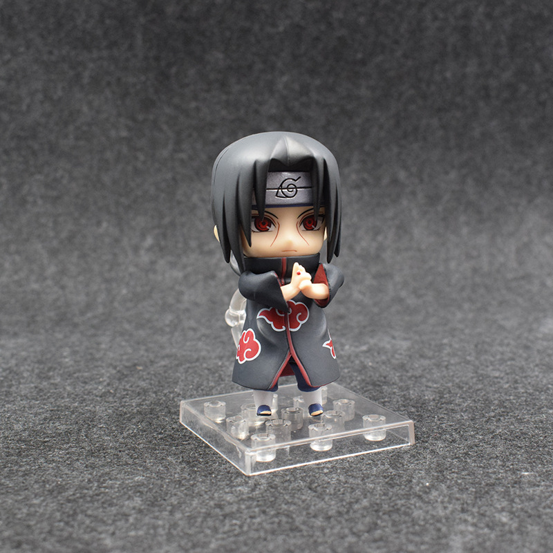 10cm Naruto Nendoroid Shippuden Uchiha Itachi 820# Anime Action Figure PVC toys Collection figures for friends gifts 40