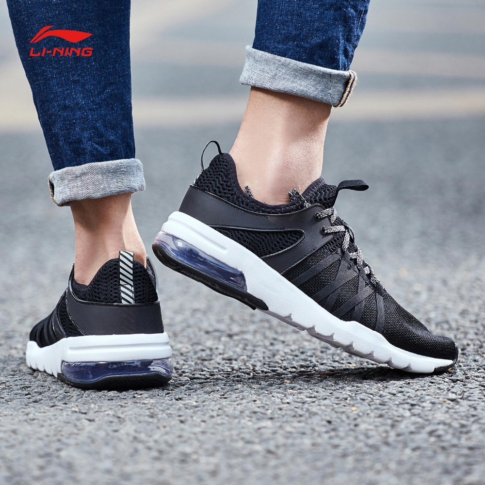 Li Ning Women BUBBLE UP Walking Shoes Air Cushion Wearable LiNing Comfort Sports Shoes Breathable Sneakers