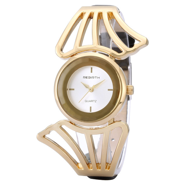New REBIRTH Fashion Wings Design Bracelet Watch Quartz Watch Women Cuff Bangle Watches Femme Relojes Mujer Relogio Feminino