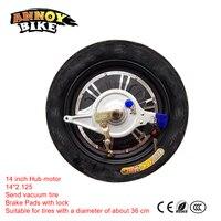 14 inch escova menos não engrenagem duplo eixo hub motor 48v60v72v 500w800w1000w up freio modificado atualizar motor do carro de bicicleta elétrica Motor p/ bicicleta elétrica    -