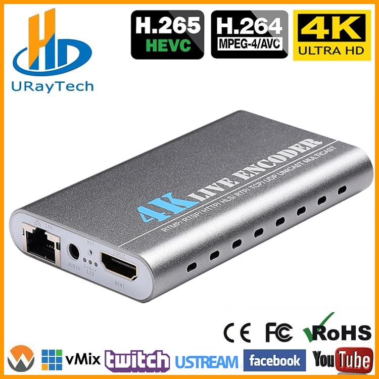 URay HEVC H.265 4 K Ultra HD HDMI Para IP Codificador De Vídeo H.264 IPTV Codificador Codificador de Streaming Ao Vivo H265 Servidor