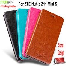 Для Nubia Z11 Мини Телефон Case, оригинал Mofi Руи Тонкий Кожаный Бумажник Case Для ZTE Nubia Z11 Mini S Откидная Крышка с Подставкой XR8