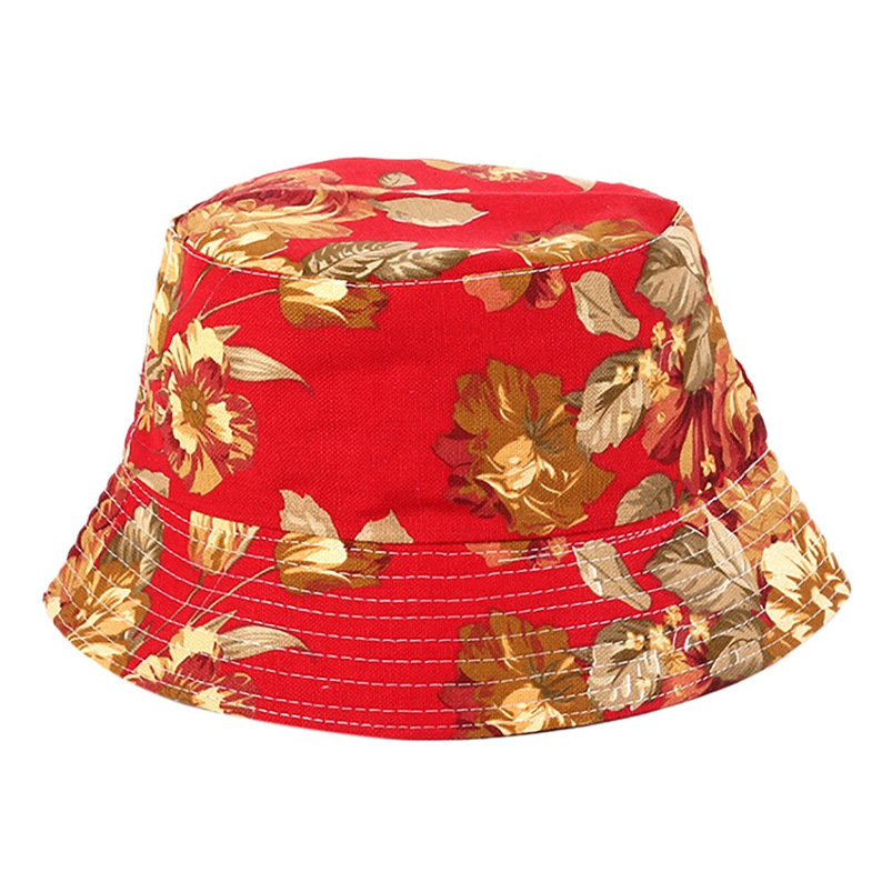 Men Women Bucket Hat Flower Print Cap 2018 Summer Hot Sale Flat Hat Fishing Boonie Bush Cap Outdoor Sunhat Wholesale #FM11 (1)