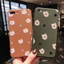 For iPhone X XR XS Max Cases Cute Bear Pig Soft TPU Silicone Shell For iPhone 6 6S 7 8 Plus Cover Phone Cases Capa Coque цена и фото