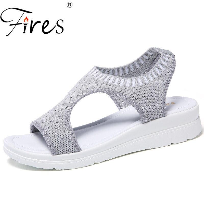 Women Sandals Slippers Flip-Flops Walking-Shoes Black Breathable Summer Ladies New White