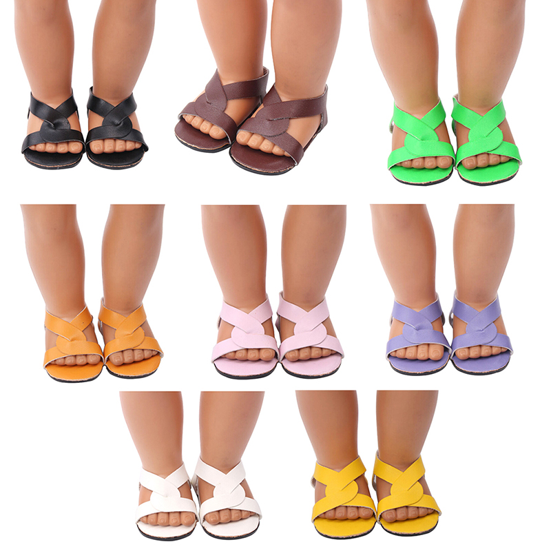 1 Paar Zomer Sandalen Schoenen Poppenhuis Kleding Accessoires Schoenen Voor Pop Kid Speelgoed