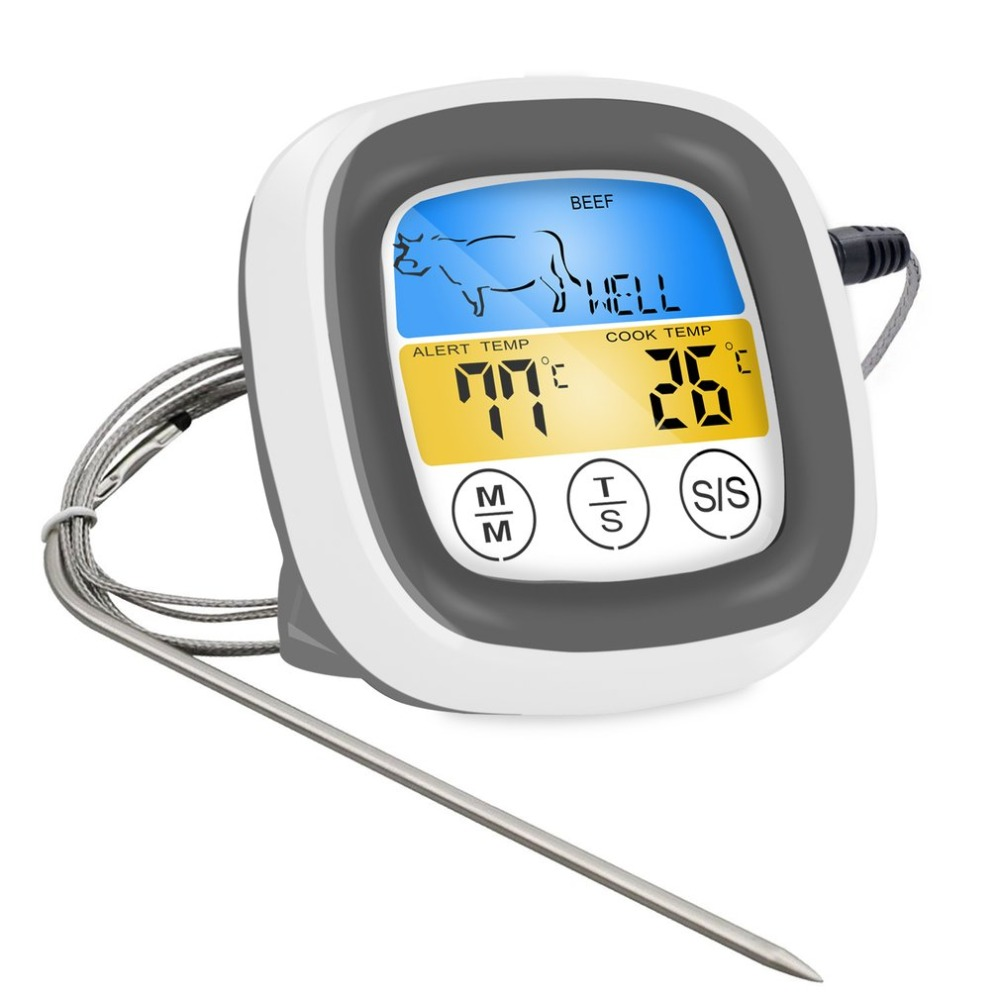 Digital Wireless Food Thermometer with Preset Temperature and Touch Screen Suitable for Perfect Cooking of Chicken Turkey and Fish 7