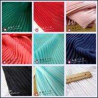 Цена за 50 м Этап 3 беспроцентный чистый цвет ткани типа Многоуровневое орган плиссированные морщинка шифоновое платье ткани