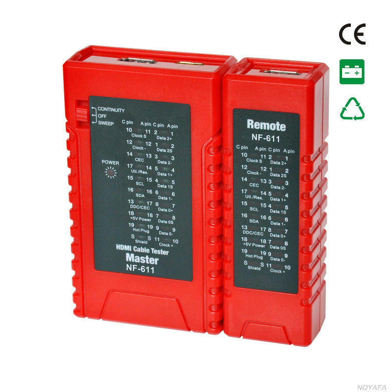 NOYAFA NF-611 HDMI cable tester detector and HDMI wire tracker Line finder professional or trouble shooting tester  цены