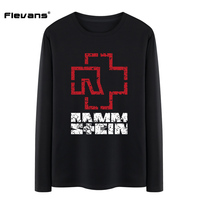 Flevans Rammstein Rock Band Heavy Metal 100 Cotton Men Long Sleeve T Shirt 2017 Letter Printed