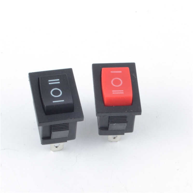 10pc KCD  Push Button Switch 3 Pin Snap-in On/Off Boat Rocker Switch 21*15mm 10A 250V Black Red