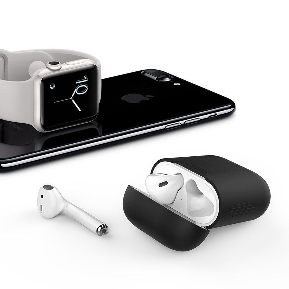 2 Paketli AirPods Case Premium Silikon örtüklü - Portativ audio və video - Fotoqrafiya 5