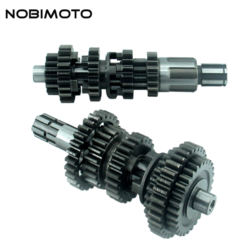 Pit Dirt Bike CB250 6 Gear Main Counter Shaft Transmission For China Brand ZongShen CB250 6 Gear Air-cooled Engines ZB-142