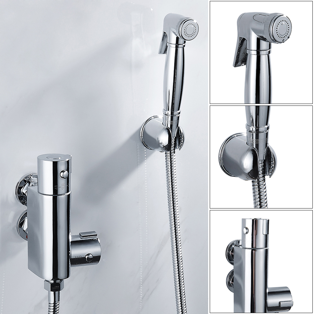 Copper cold and hot water bidet faucet valve 4 types bidet spray ...