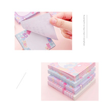 80pcs/pack Pink Girl Sticky Notes Memo Four Selections Notebook Stationery Office School Supplies