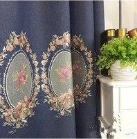 Fluid Embroidery Rustic Embroidered Curtain Fabric Zakka Curtain Fabric