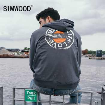 SIMWOOD autumn Hoodies Men Letter Graphic Print Casual Slim Streetwear Winter Fleece Warm Sweatshirts Plus Size Hoodies 180535 - DISCOUNT ITEM  49% OFF All Category