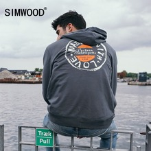 SIMWOOD spring Letter Graphic Print Casual Slim Streetwear Clothing Men Sweatshirts