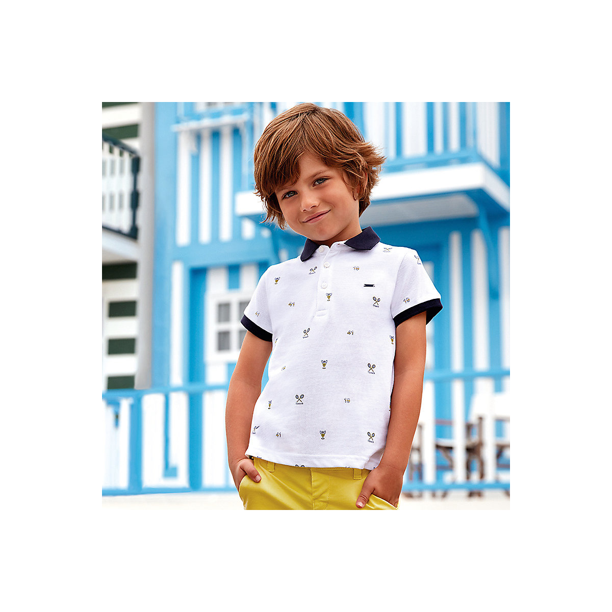 T-Shirts MAYORAL 10685317 Children sClothing T-shirt with short sleeves polo shirt for boys and girls elegant scoop neck printed short sleeve loose fitting chiffon t shirt for women