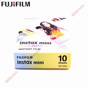 Image 4 - 20 매 Fujifilm Fuji Instax Mini 8 새로운 마카롱 + 스테인드 글라스 필름 11 7 8 9 50s 7s 90 25 SP 1 공유 인스턴트 카메라 SP 2