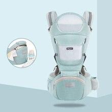 Portabebés para recién nacidos, taburete de cintura, mochila de malla de algodón, para verano y otoño, bolsa frontal de viaje, envoltorio de canguro, 2020