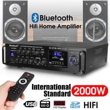 KROAK HIFI Stereo Karaoke Audio Amplifiers 2000W Home Car bl