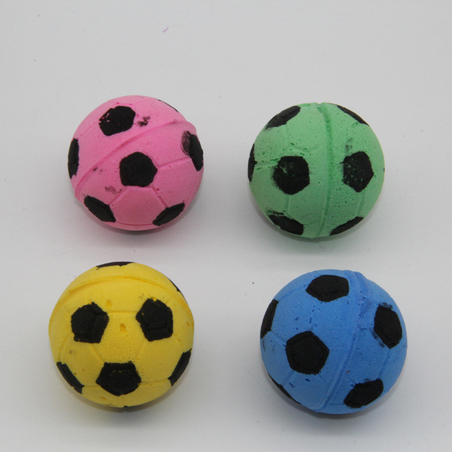 Westrice 4cm Soft Latex Ball Mini Playing Mouse Toys Gift For Cats Dogs Kitten So Nice Football 8