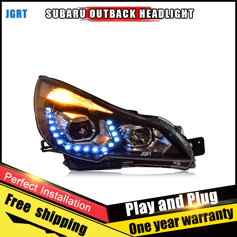 Car Style LED headlights for Subaru Outback 2010-2013 for Outback head lamp LED DRL Lens Double Beam H7 HID Xenon bi xenon lens outback daytime light 2010 2014 free ship led outback fog light 2pcs set forester outback