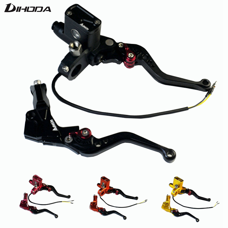 купить 5 color PX6 CNC hydraulic brake clutch pump master cylinder lever Adelin Cable Clutch universal motorcycle motorbike handle по цене 1973.29 рублей