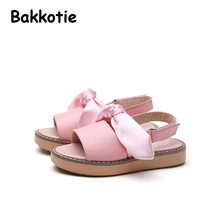 Bakkotie 2017 New Summer Children Fashion Casual Flats Baby Leisure Shoe kid Brand Girl Ribbon Bow