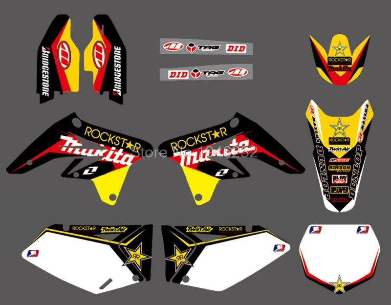 NEW Star TEAM GRAPHICS & BACKGROUNDS DECALS STICKERS Kits For SUZUKI RMZ250 RMZ 250 2007 2008 2009NEW Star TEAM GRAPHICS & BACKGROUNDS DECALS STICKERS Kits For SUZUKI RMZ250 RMZ 250 2007 2008 2009
