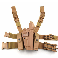 Tactical Beretta M9 M92 Leg Holster Right Thigh Paddle Belt Level 3 Lock Duty Pistol Gun Holster w/ Magazine Pouch