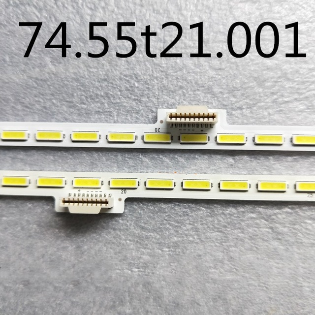 100% New 2PCS (Left+ Right) For Strip LG Lnnotek 55inch 7020pkg 40EA 74.55t21.001 58.55t21.002