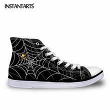 75ac16d1be INSTANTARTS Homens Da Moda Primavera Sapatos de Lona Rendas Até sapatos de  Tênis para Os Meninos Adolescentes Animal Print Alta .