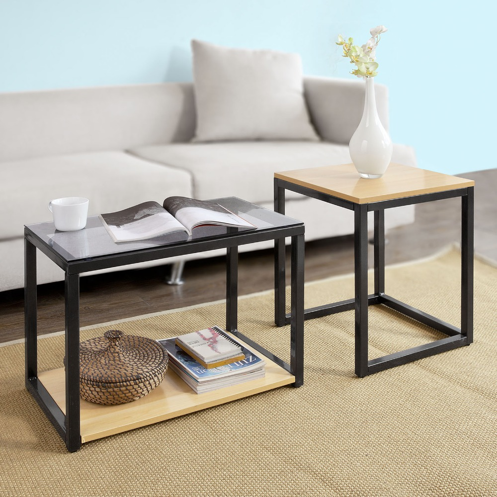 Modern Nesting 2 Set Coffee Table  1