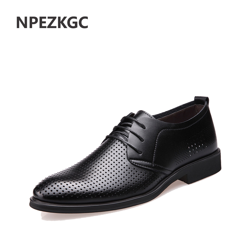 NPEZKGC Brand Genuine Leather Shoes Men Oxford Top Quality Comfortable Men Flats Dress Shoes Men Summer Shoes стиральная машина lg f2j5nn4l