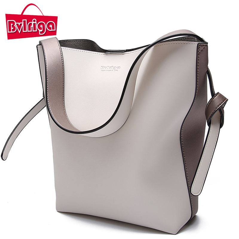 BVLRIGA Brand Luxury Handbags Women Bag Designer Women Leather Bag Female Shoulder Bag Women Messenger Bags Bucket Tote Big 2018 2017 new female genuine leather handbags first layer of cowhide fashion simple women shoulder messenger bags bucket bags