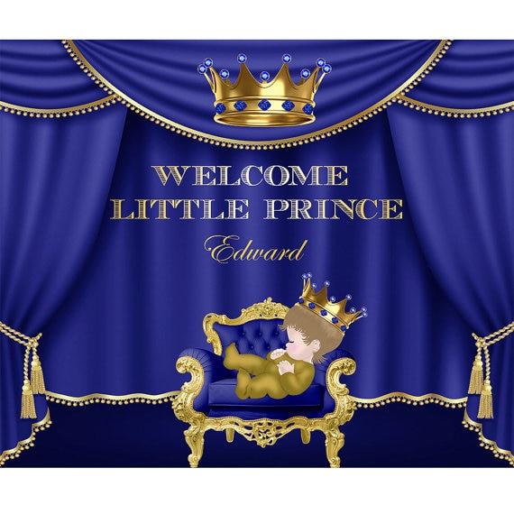 Personalizzare Royal Blu E Oro Principe A Tema Tiara Re Sfondo