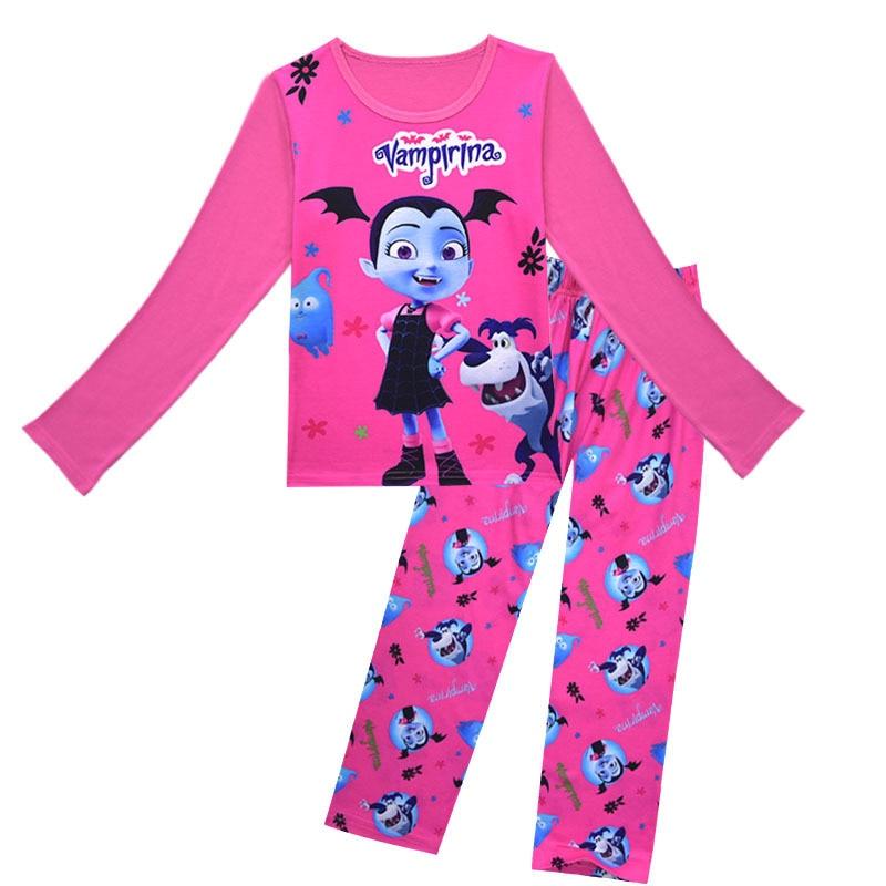 New  Girl/'s Kids Vampirina Pajamas Sleepwear Top Pants Set  L13