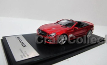 Red 1:43 Car Model Benz SL65 AMG Convertible Sport Car Diecast Classic Toys Replica Luxury Collection Miniature Minicar