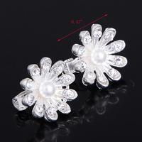 5pc Hot Selling Fashion Bridal Wedding Flower Crystal Rhinestones Pearls Women Hair Clip Comb,Hair Pin Accessories Jewelry